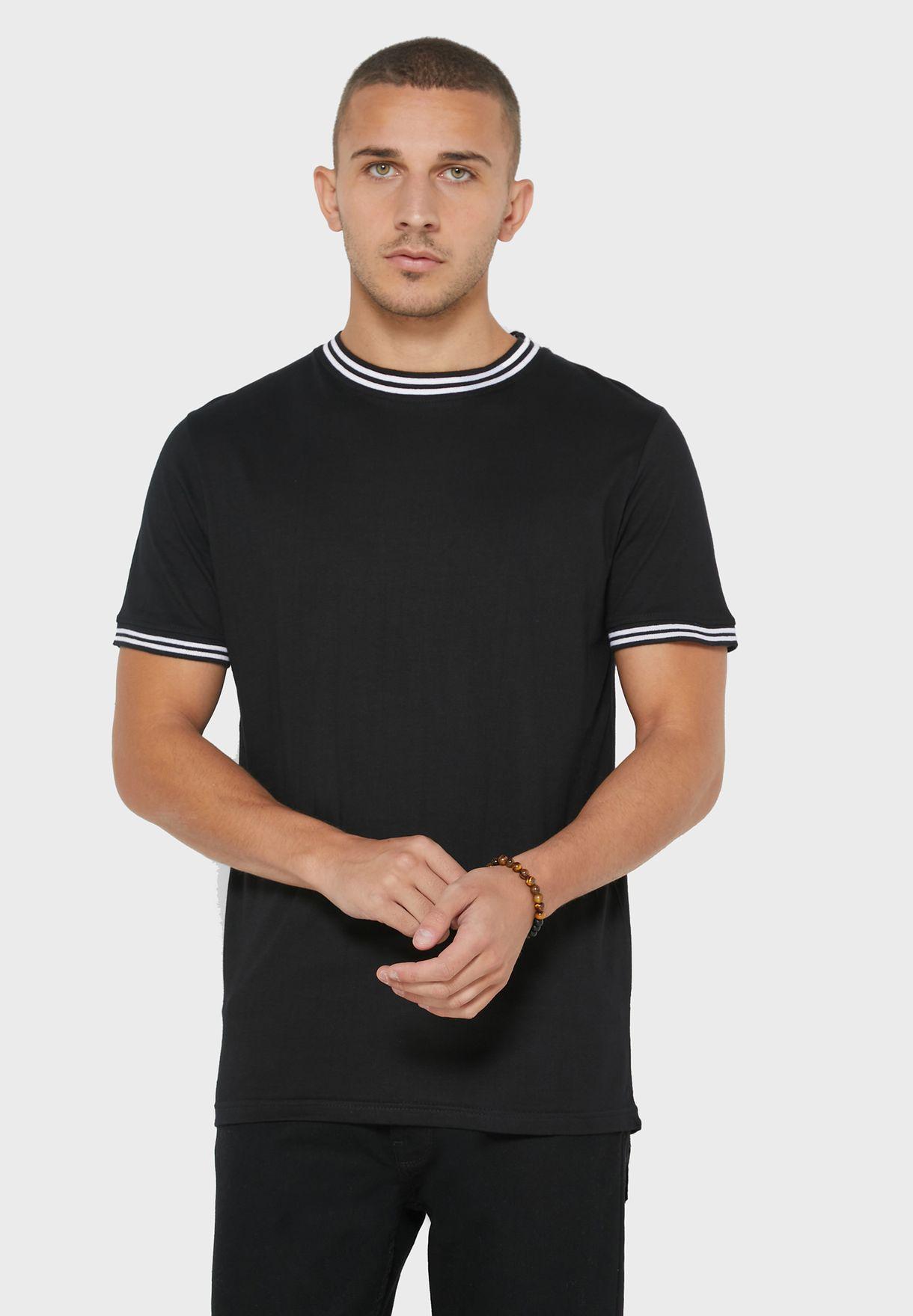 Rib Neck T Shirt