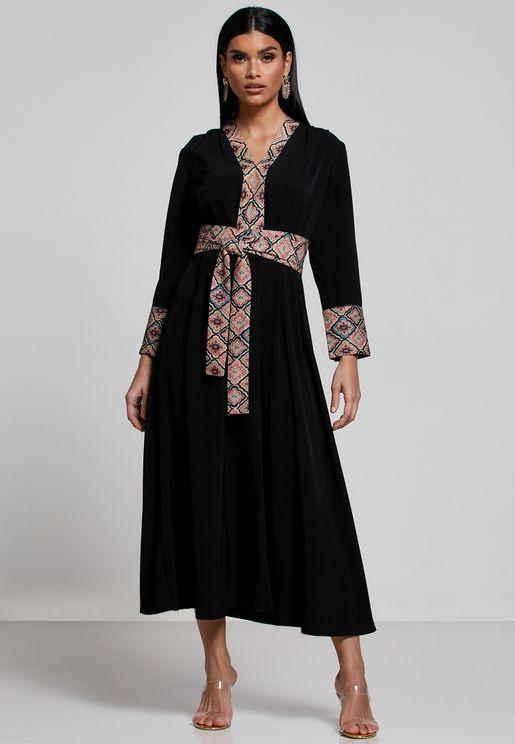Contrast Detail Dress