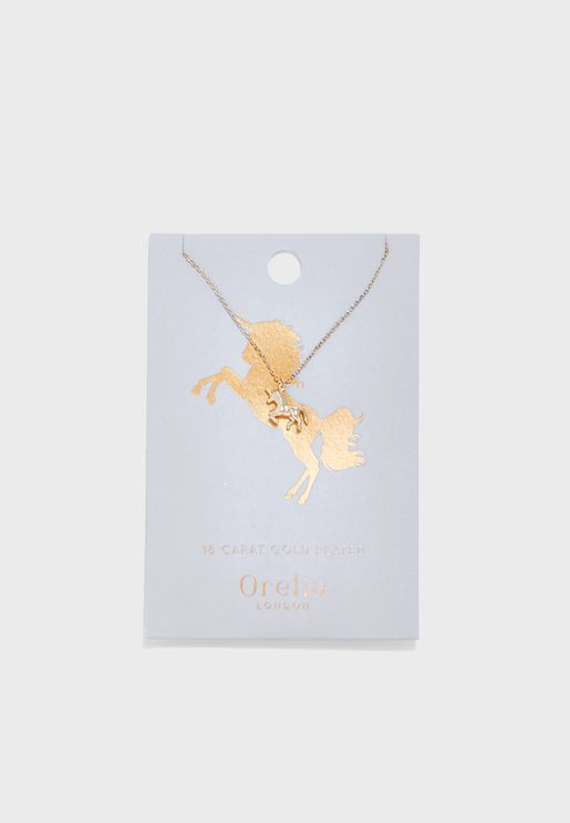 Lucky Unicorn Ditsy Necklace