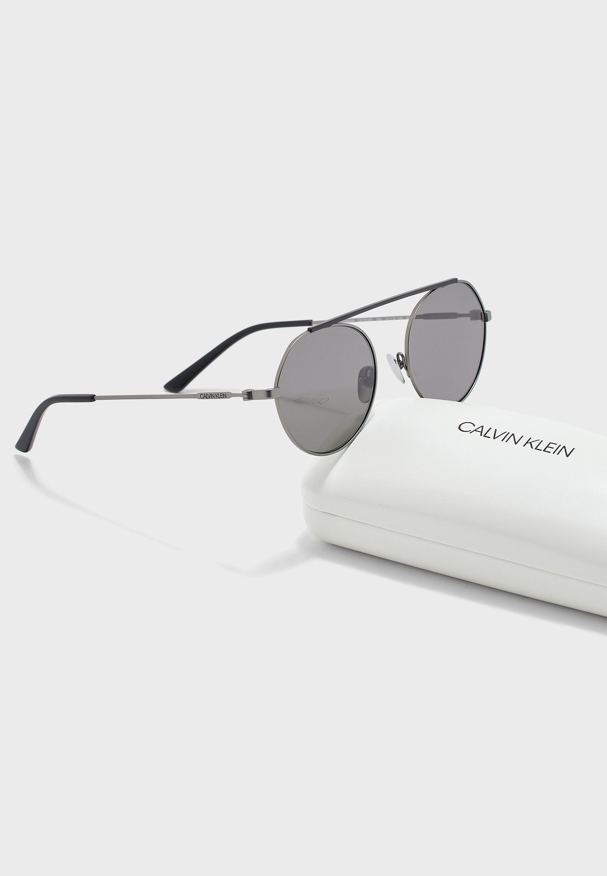 CK19149S Brow Bar Oversized Sunglasses