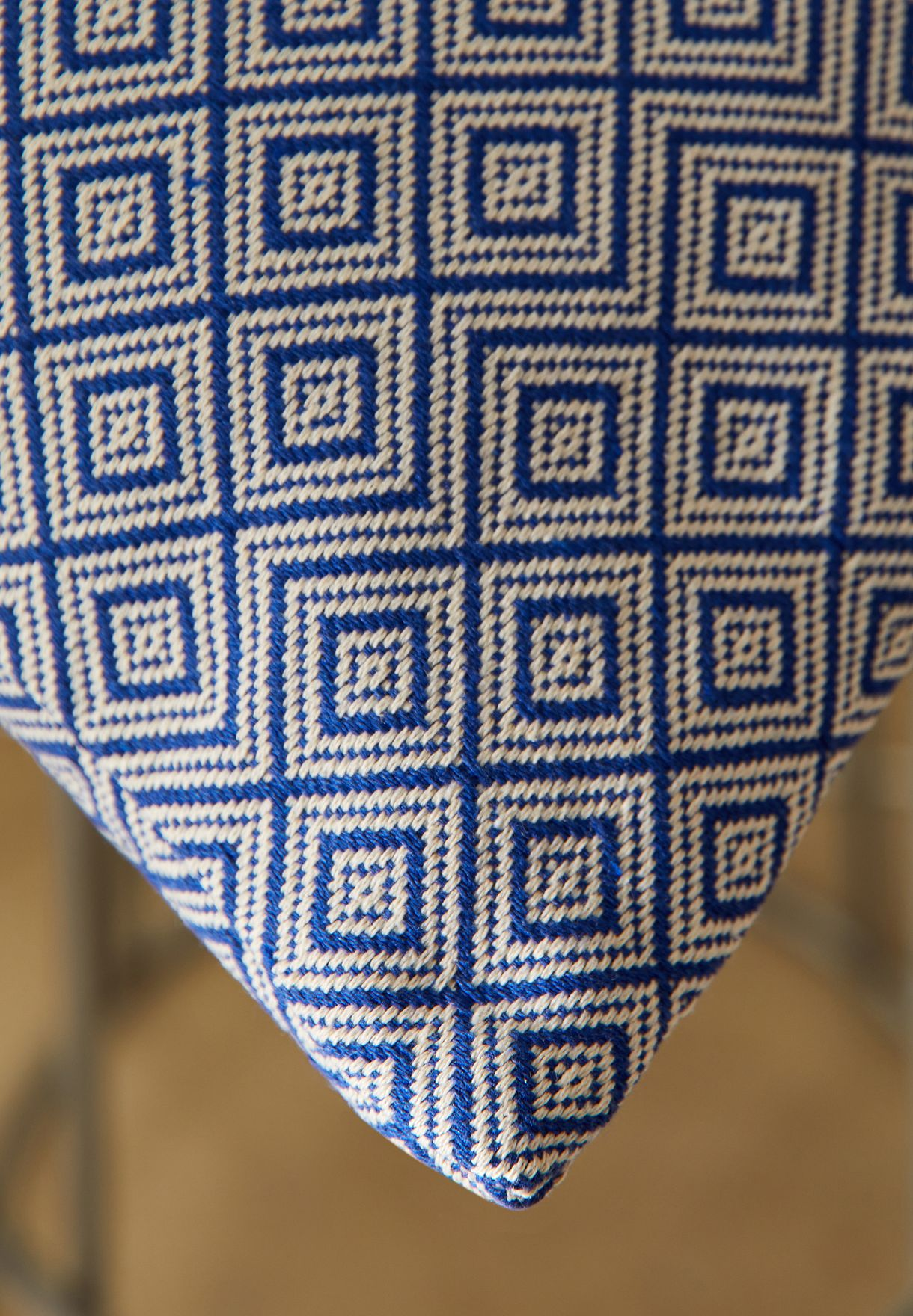 Blue Aztec Print Cushion With Insert 45*45