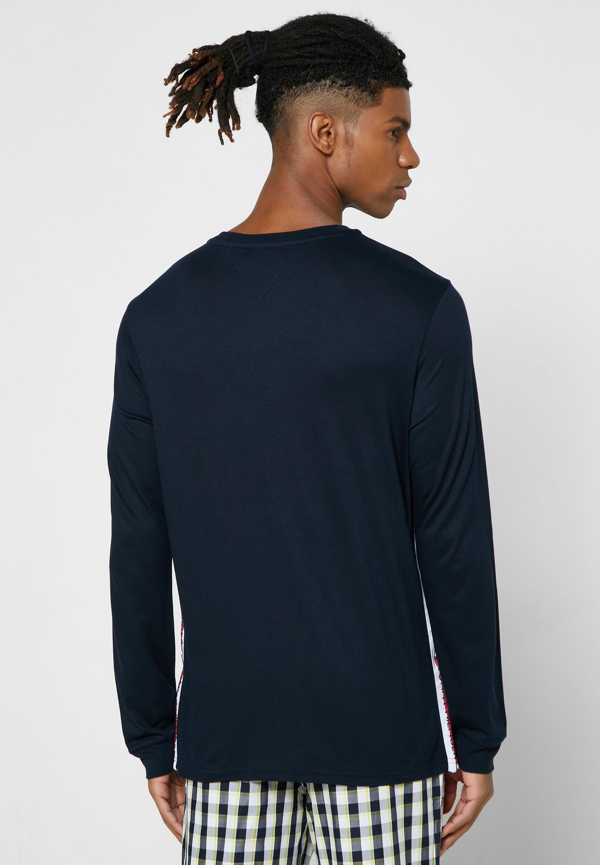 Logo Stripe Crew Neck T-Shirt
