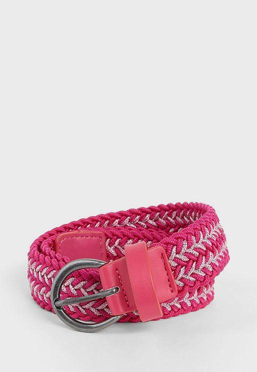 Kids Elasticated Braided Belt