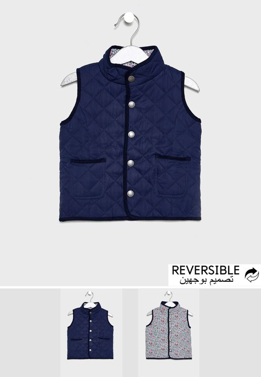 Kids Reversible Quilted Gilet