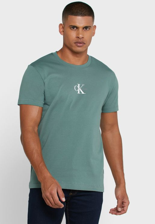 Chest Monogram Crew Neck T-Shirt