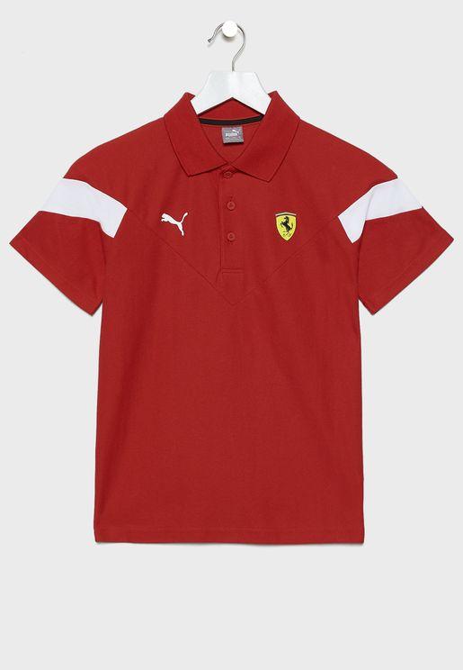 Kids Ferrari Race MCS Polo