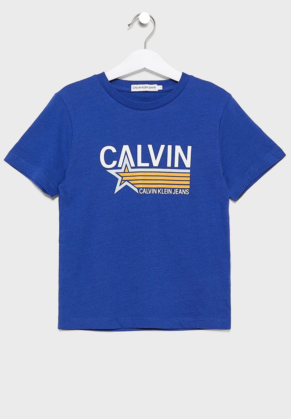 Kids Star Print Logo T-Shirt