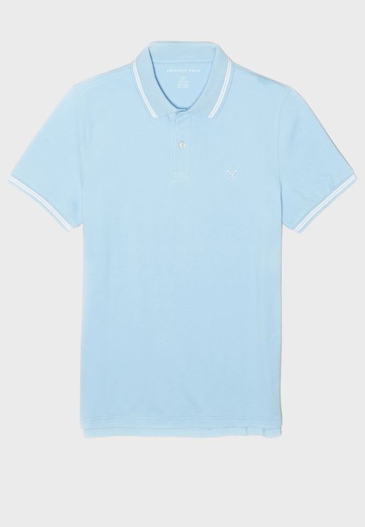 Tipped Slim Fit Pique Polo