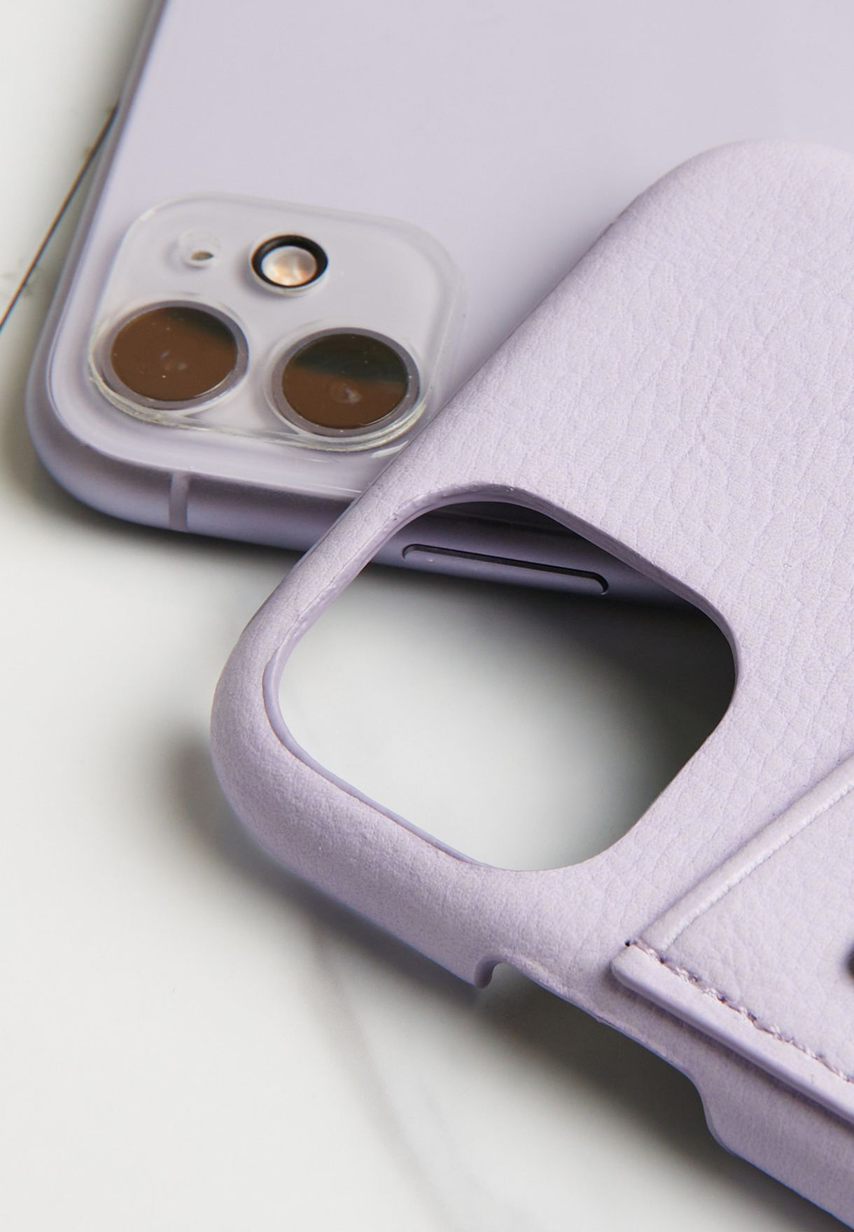 Pale Lilac Cardholder iPhone 11 Case