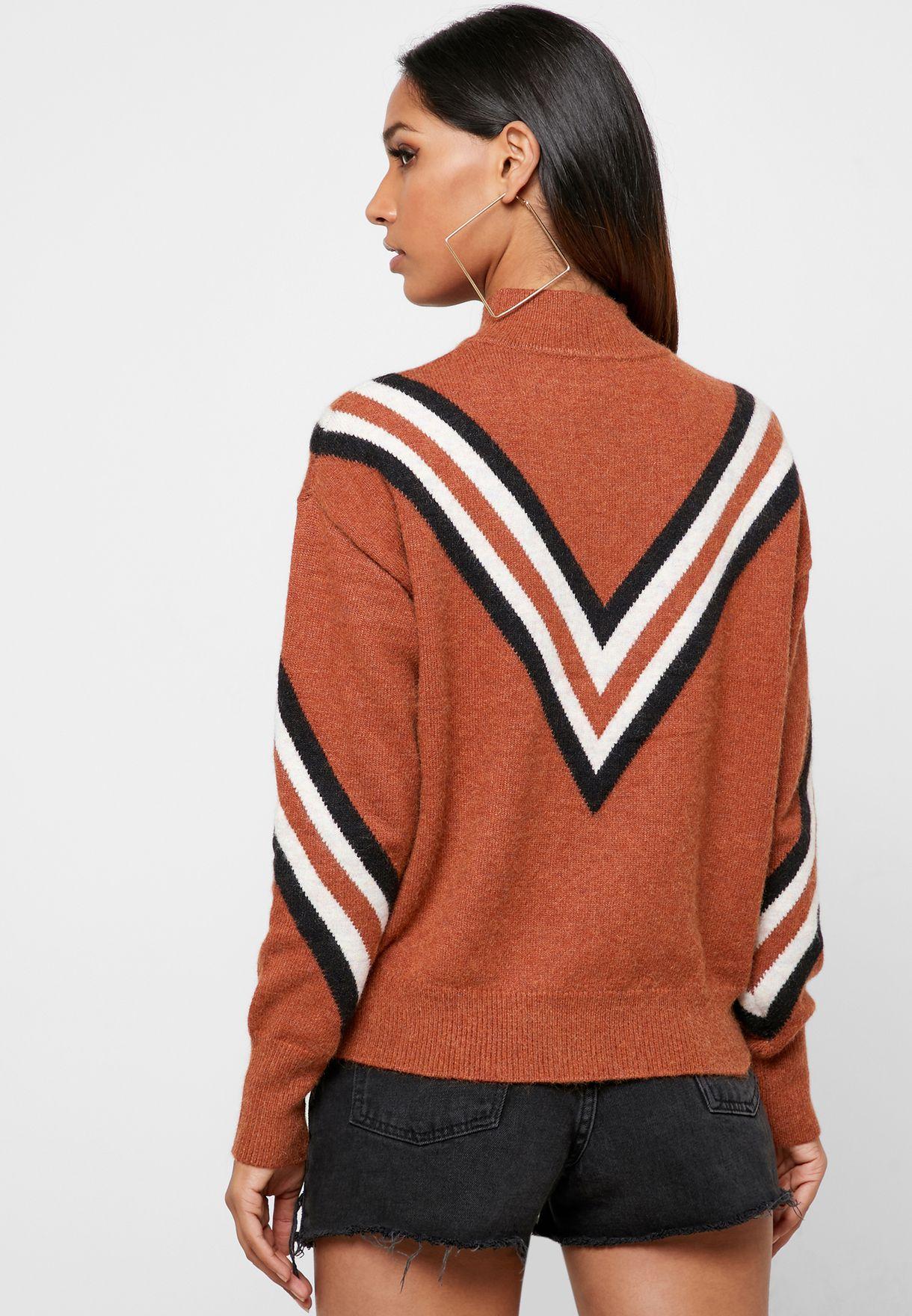 Chevron Colourblock Sweater
