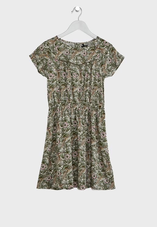 Youth Floral Print Dress