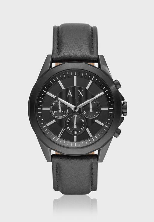 ساعة جلد اصلي AX2627
