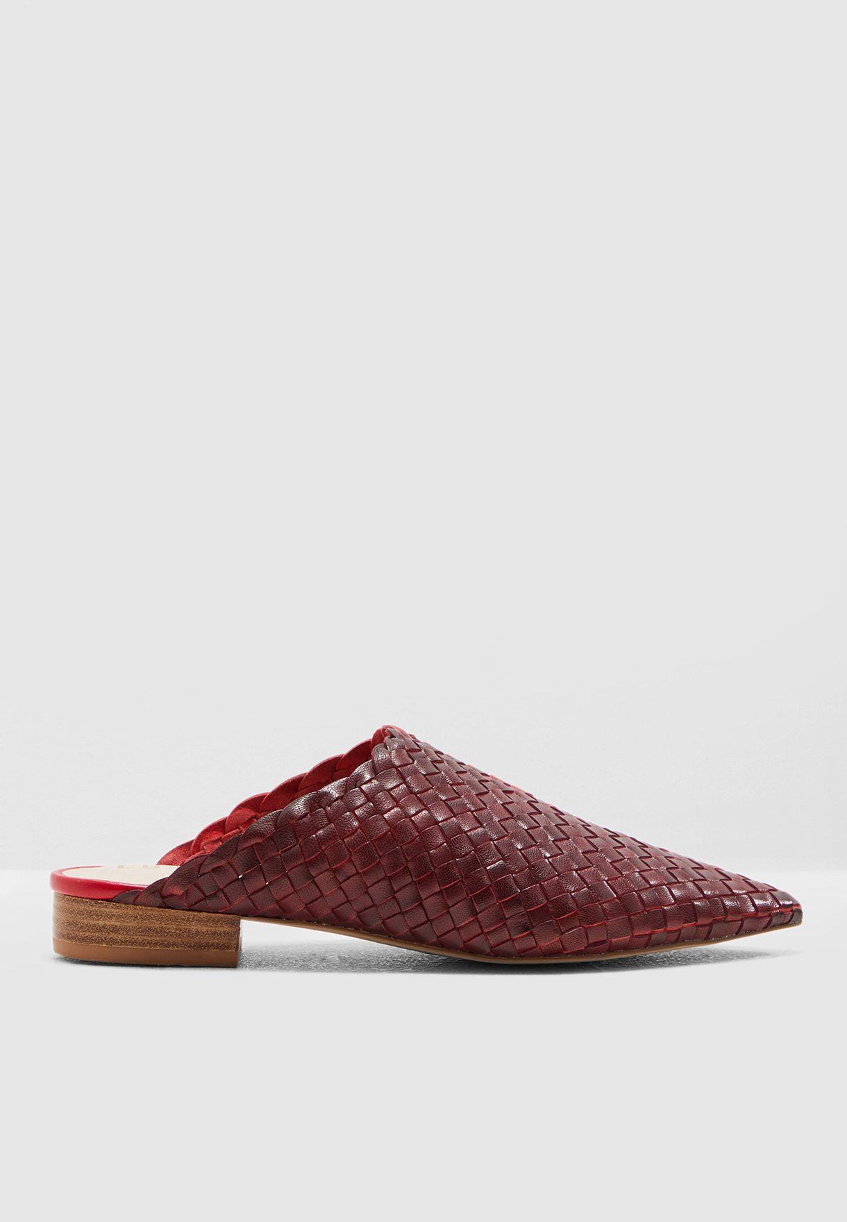 حذاء جلد اصلي من لونين