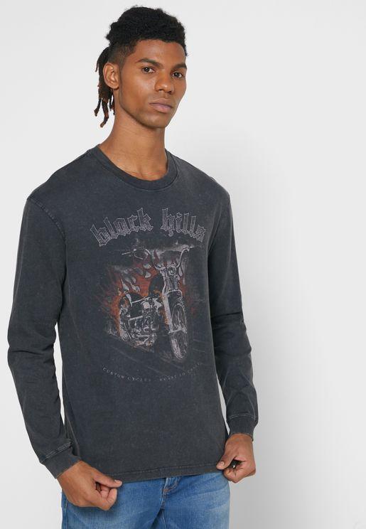 Black Hills Flames Crew Neck T-Shirt