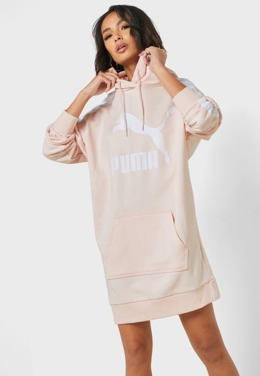 فستان بياقة هودي