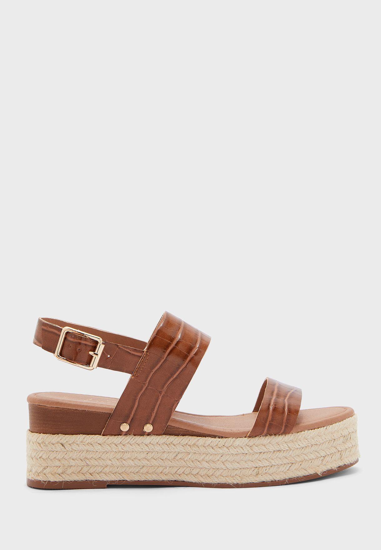 Oyster Wedge Sandal