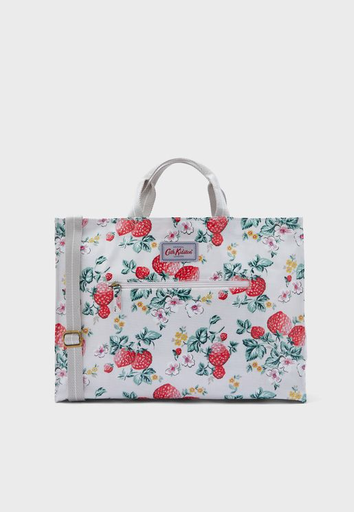 Wild Strawberry Strappy Carryall Shopper