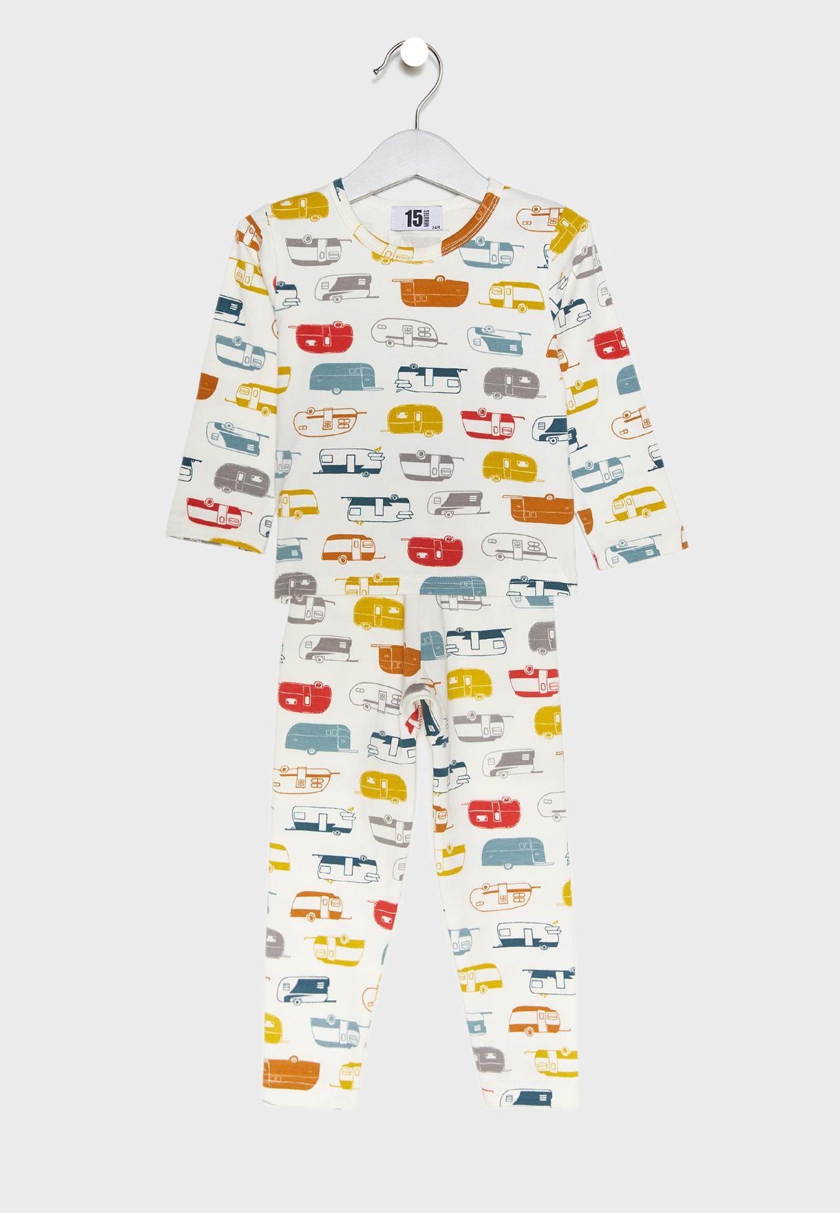 AOP Print Pyjama Set