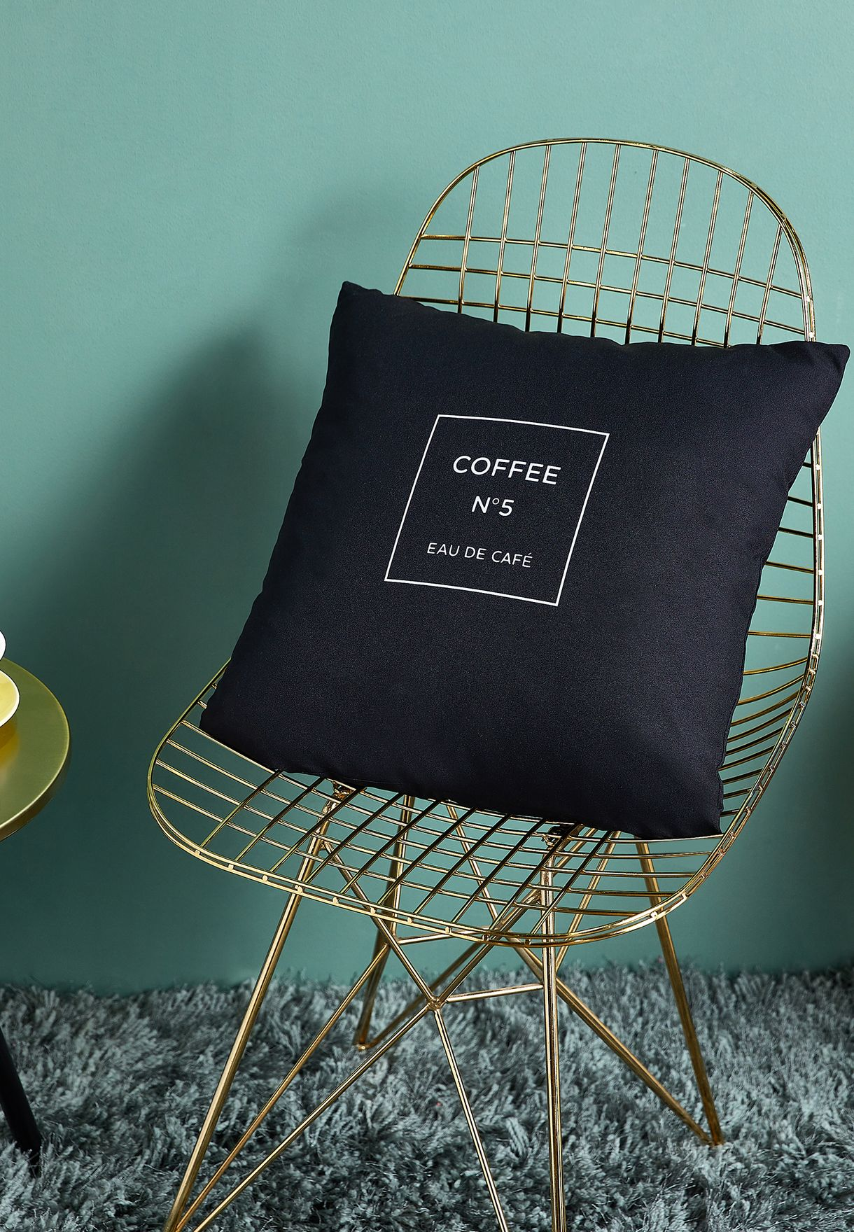 Coffee No.5 Cushion with Insert - 45cmx45cm
