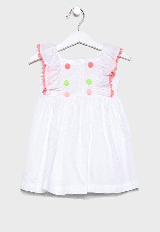 فستان بطبقات كشكش للبيبي