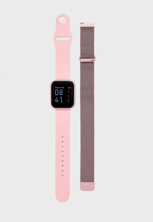 Smart Watch With Second Strap Set