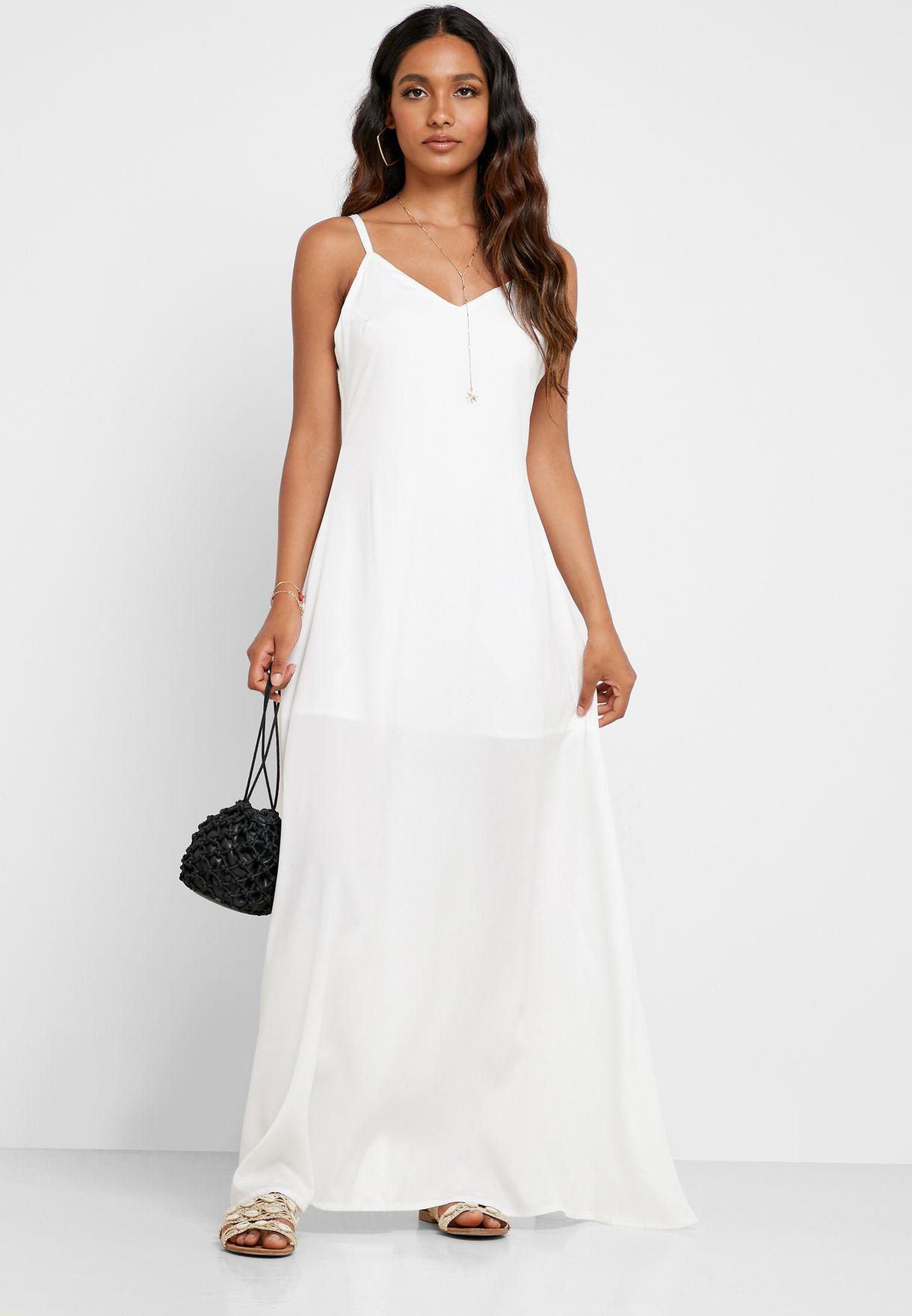 Cami Strap Side Split Beach Dress