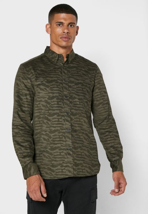 Camo Regular Fit Shirt