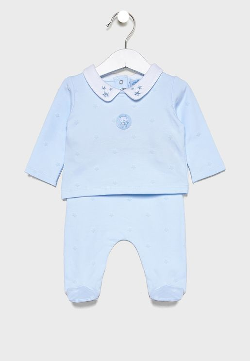 Infant Star Flock T-Shirt + Trousers Set