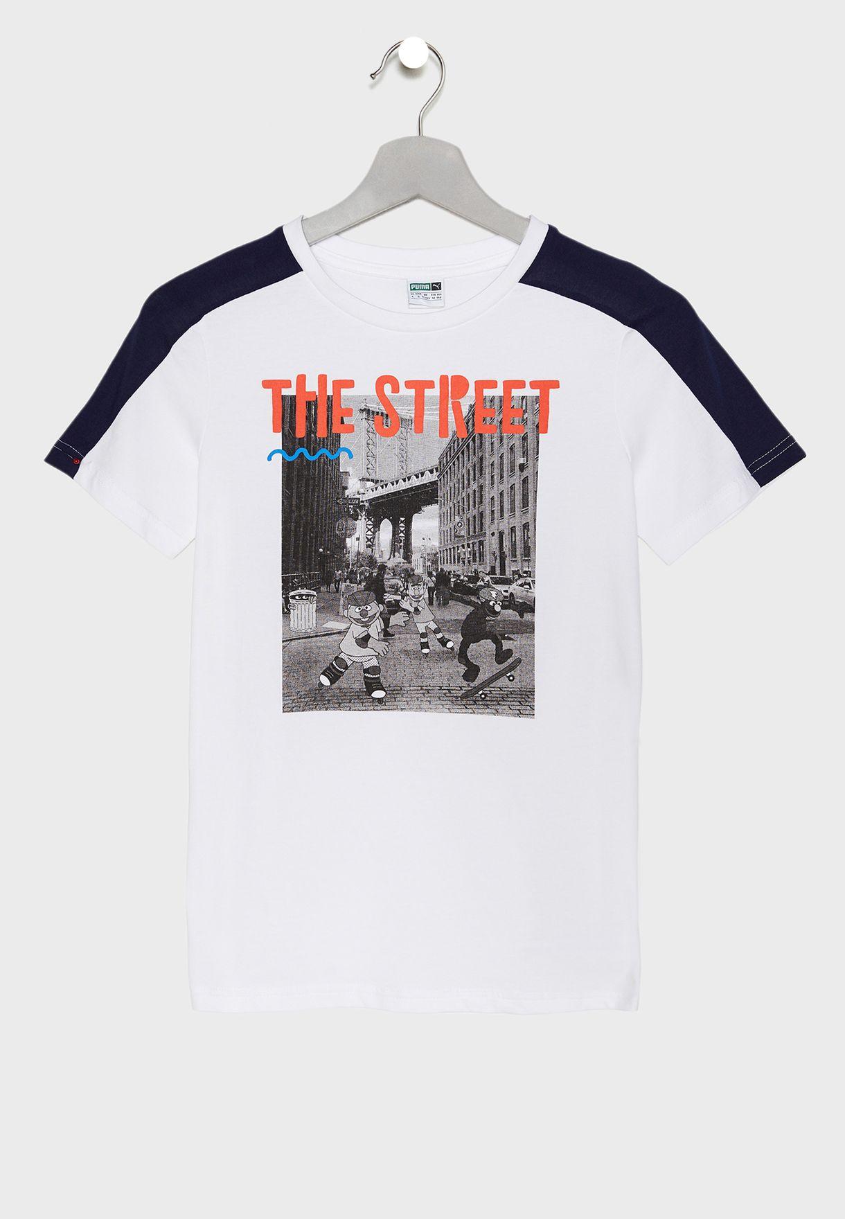 9eefced45efb Shop PUMA white Kids Sesame Street T-Shirt 85447602 for Kids in Oman -  20000AT20FOP