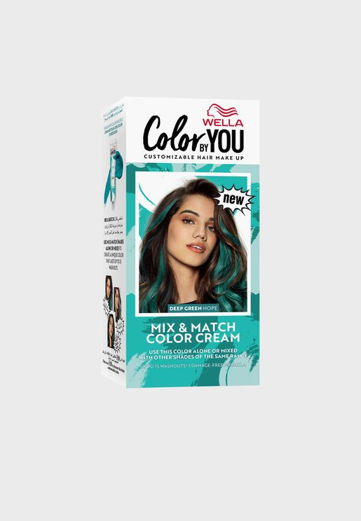 Mix & Match Hair Color Cream Deep Green Hope