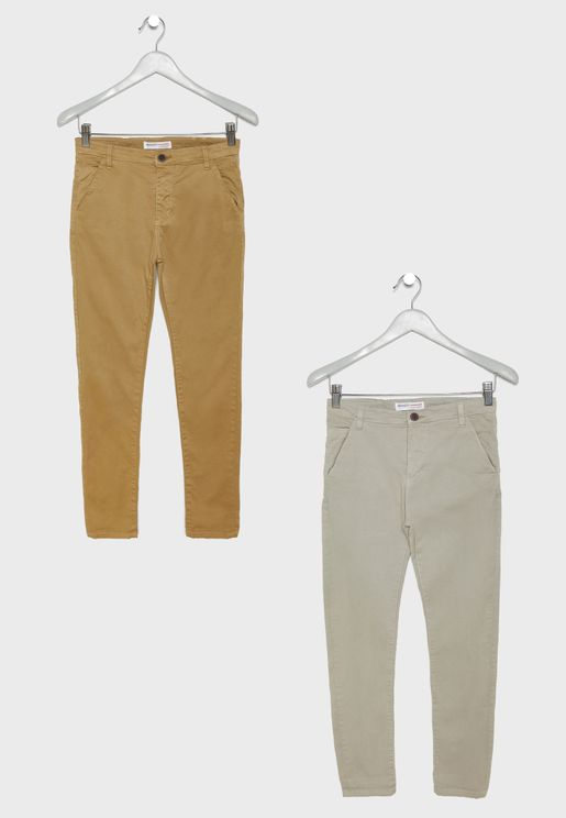 Teen 2 Pack Chino Pants