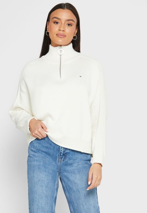 Zip Detail Sweater