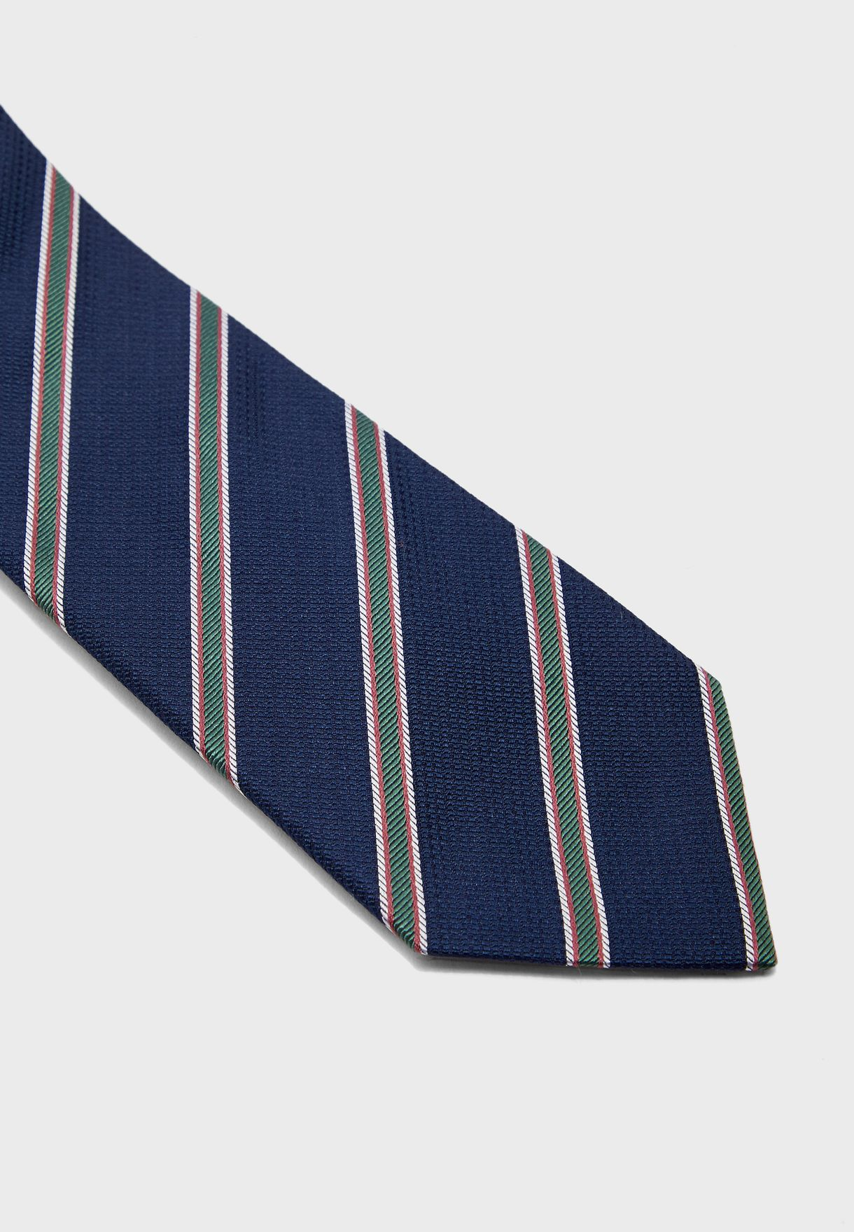 Three Colour Stripe Detail Tie