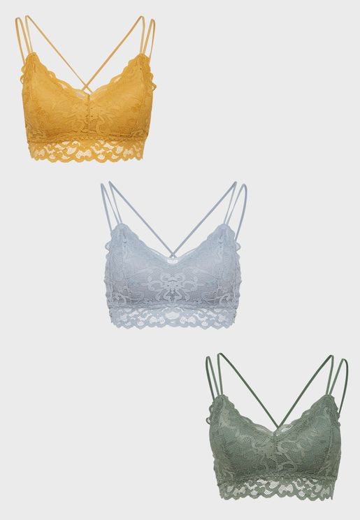 Lace Trim Bralette Multipack