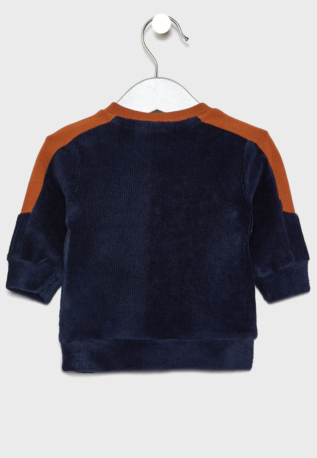 Infant Shoulder Stripe Sweatshirt
