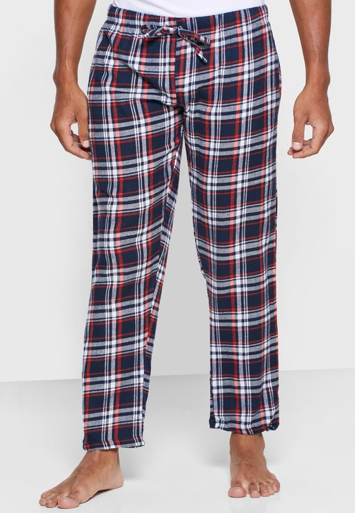 Check Print Loungewear Pants