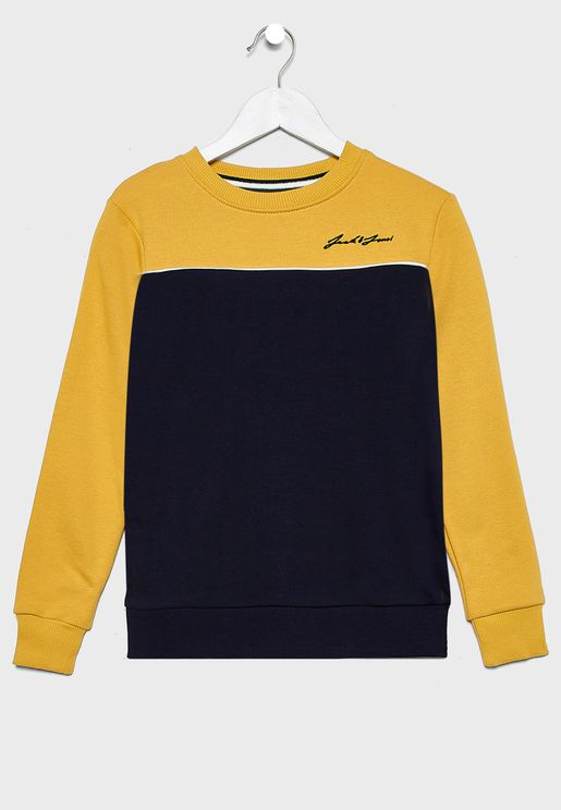 Teen Color Block Sweatshirt