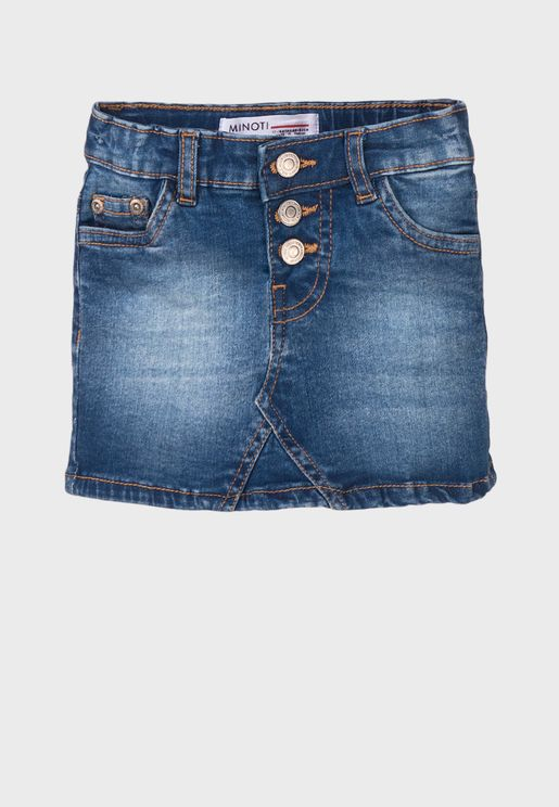 Infant Basic Denim Skirt