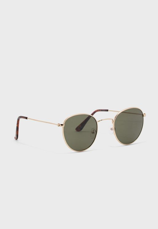 Tortoiseshell Effect Aviator Sunglasses