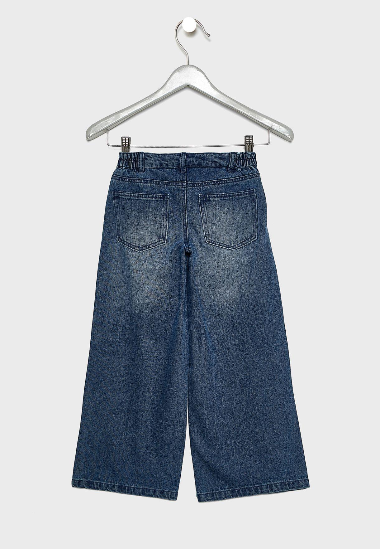 Kids Wide Leg Jeans