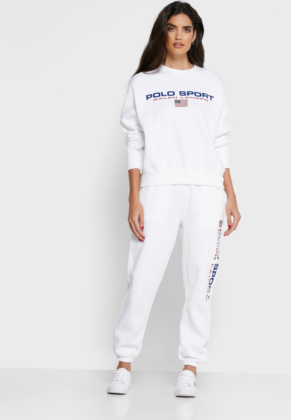Tie Waist Logo Cuff Sweatpants