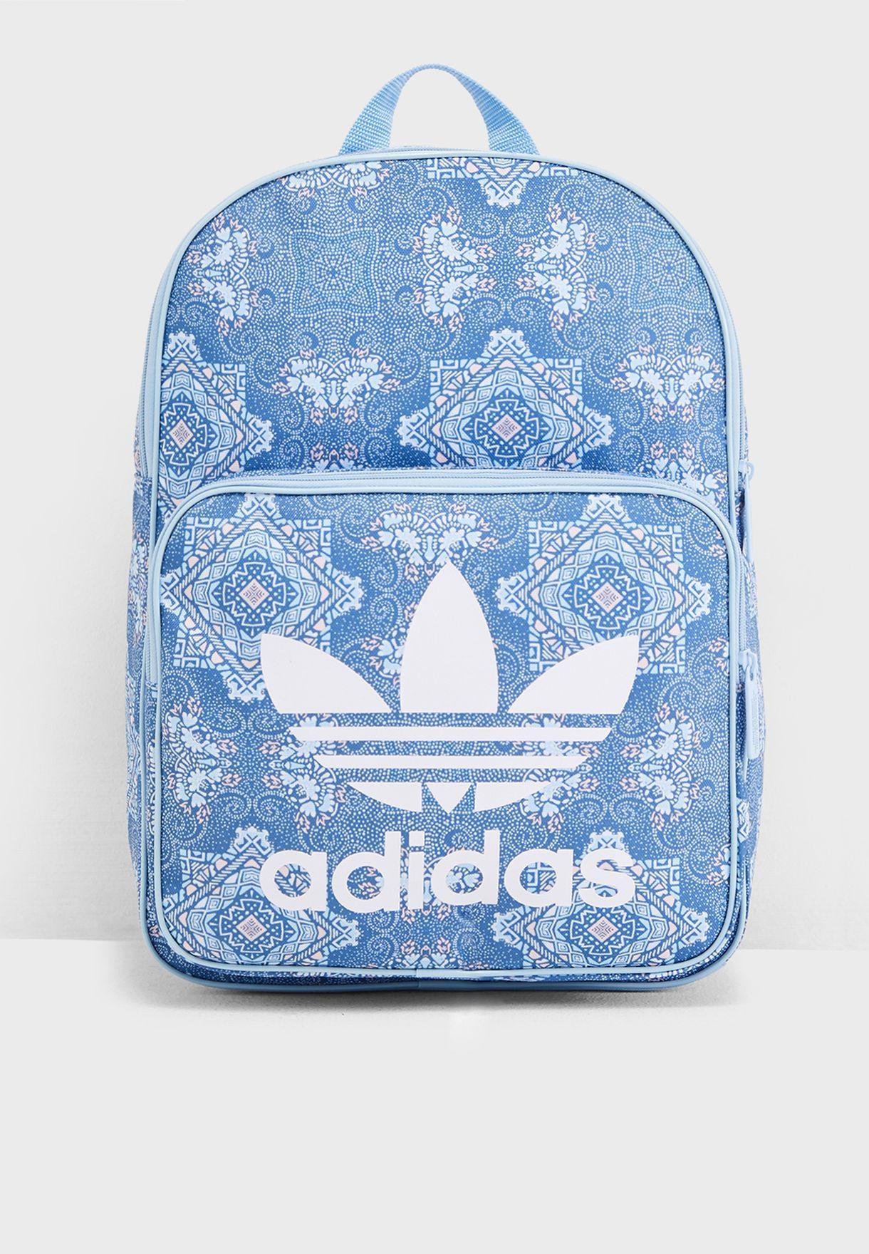 5d6075312b Shop adidas Originals blue Trefoil Graphic Backpack DU7736 for Women in  Bahrain - 14448AC20XDP