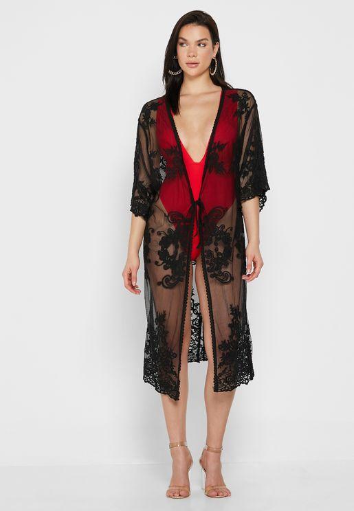 Lace Kimono Beachwear