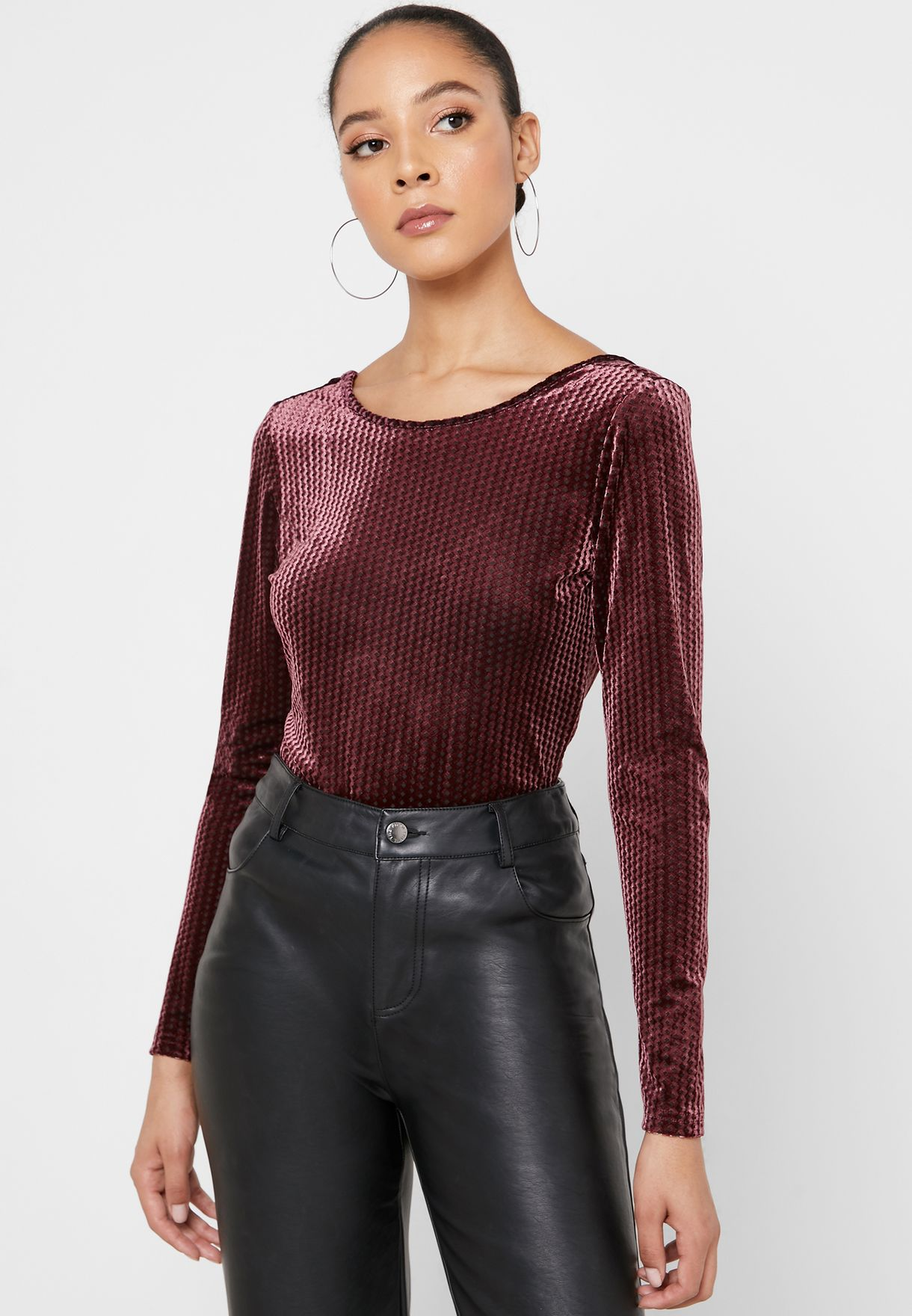 Velvet Long Sleeve Top