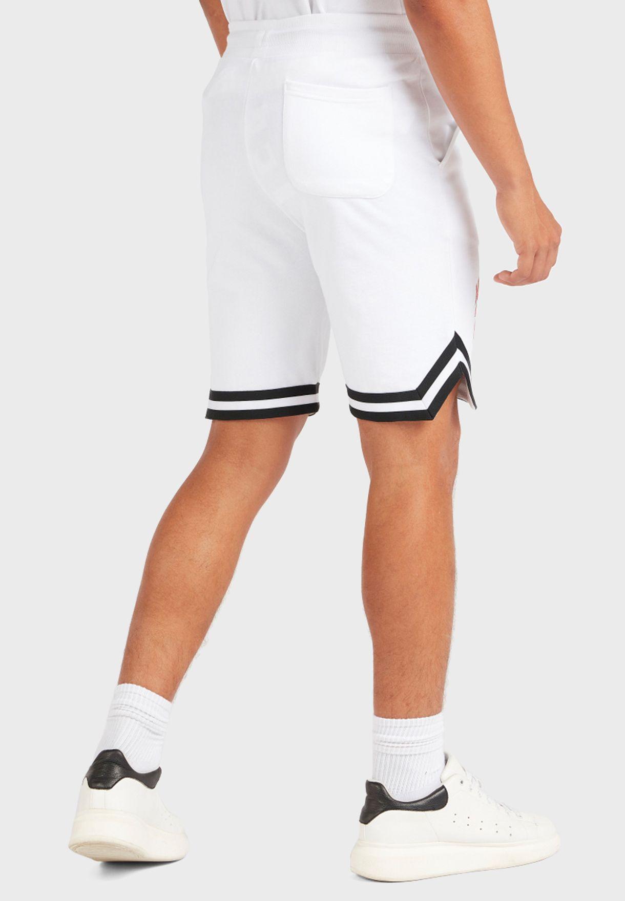 Mickey Striped Hem Shorts
