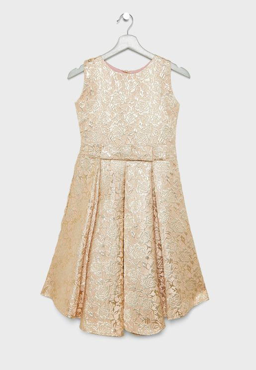 Bow Front Sequin Dress