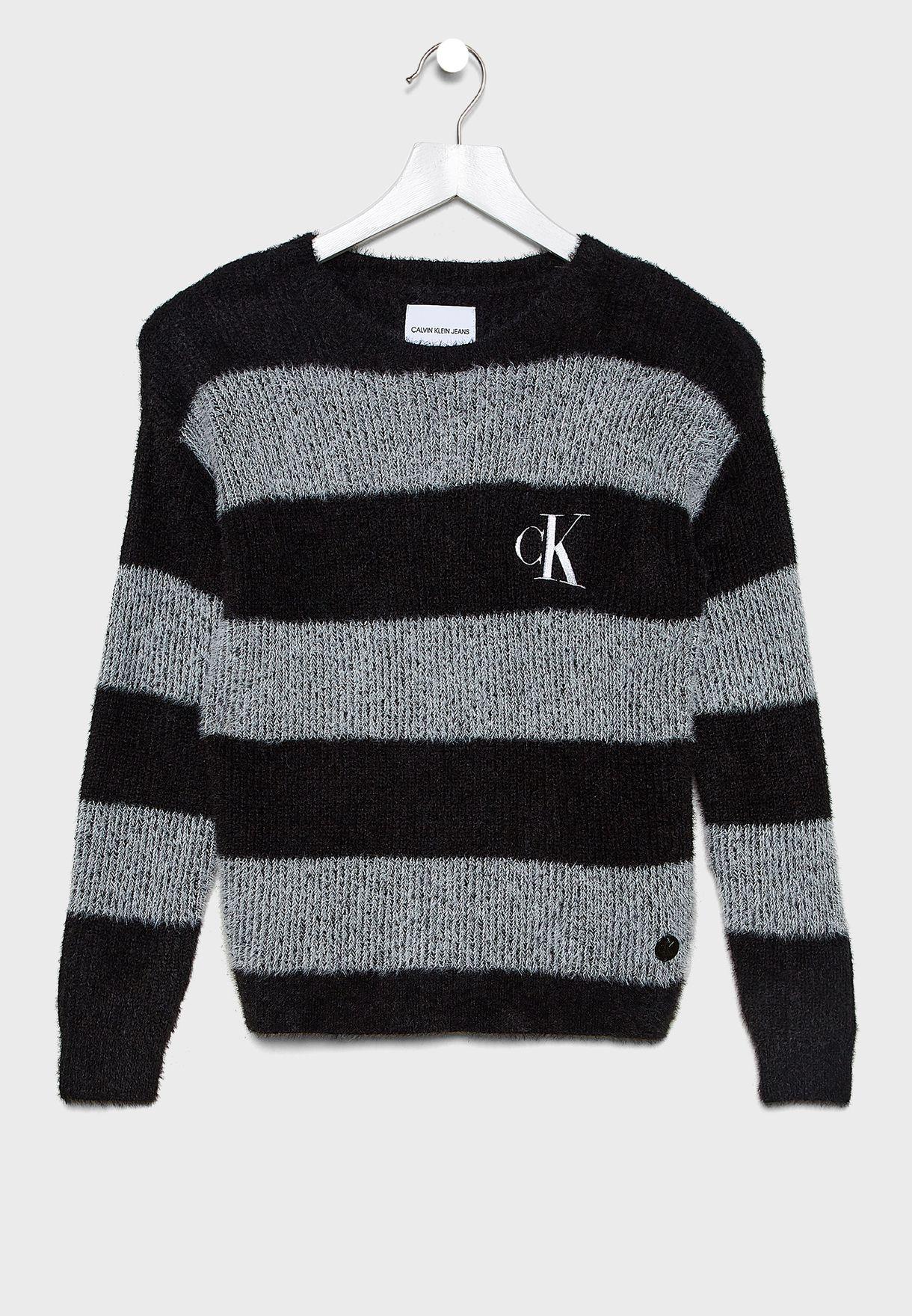 Kids Crew Neck Stripped Sweater