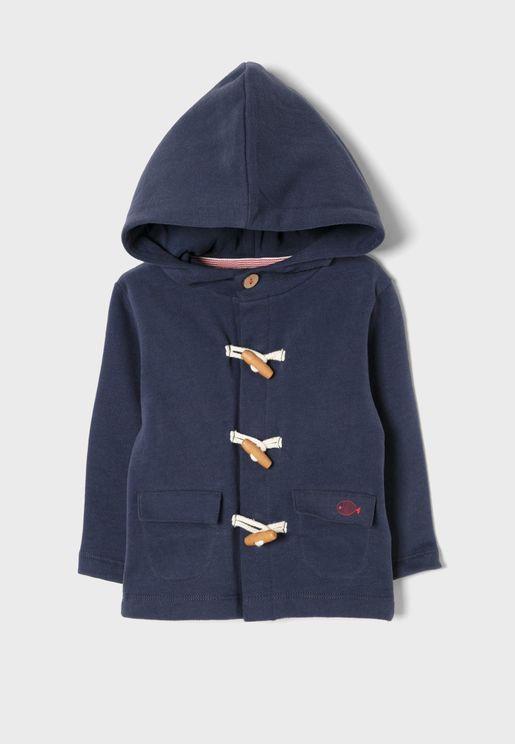 Infant Toggle Detail Hooded Jacket