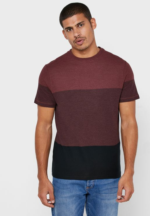 Kevin Color Block Crew Neck T-Shirt