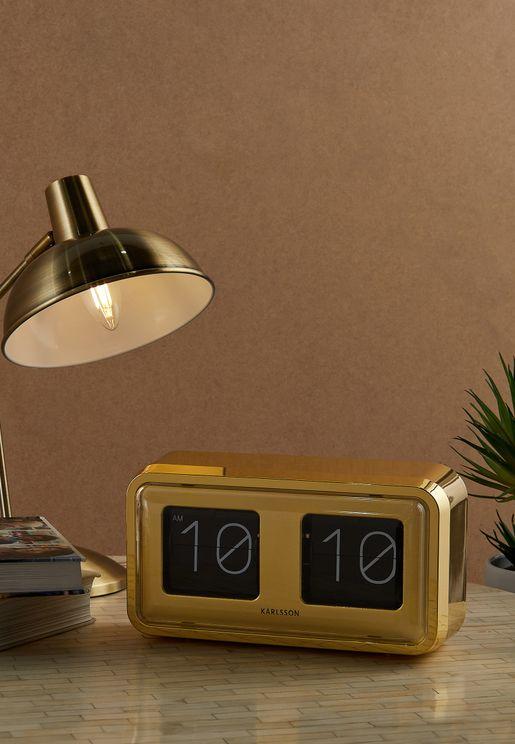 ساعة مكتب انيقة مطلية بالذهب